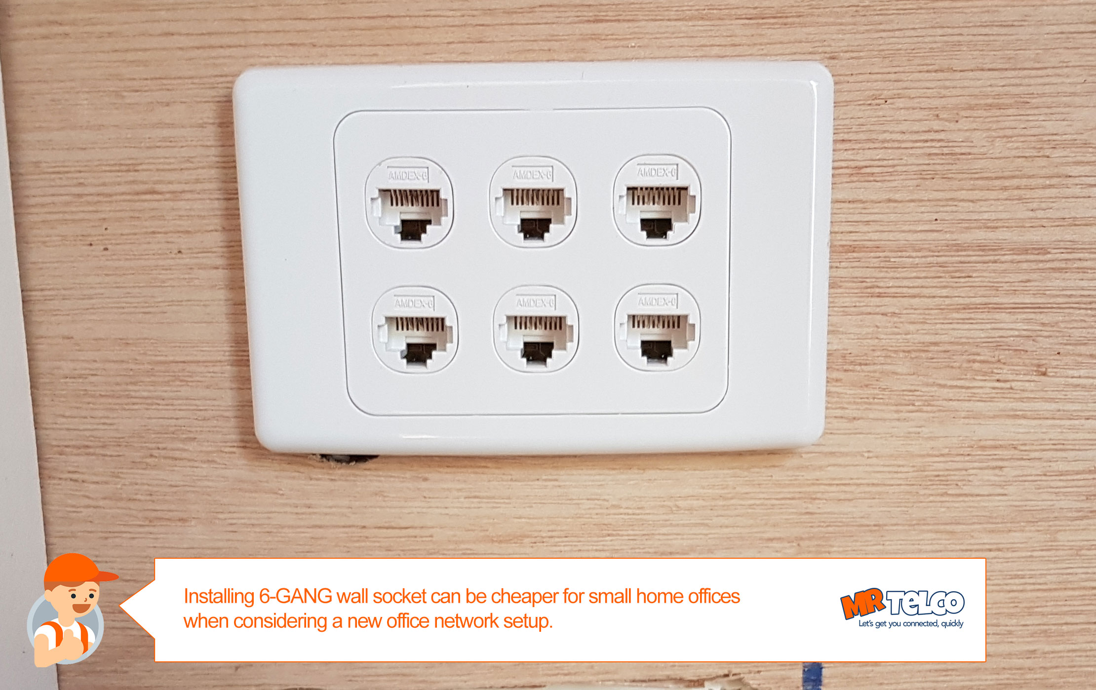 Comms cabinet alternatives just using 6 GANG wall plate