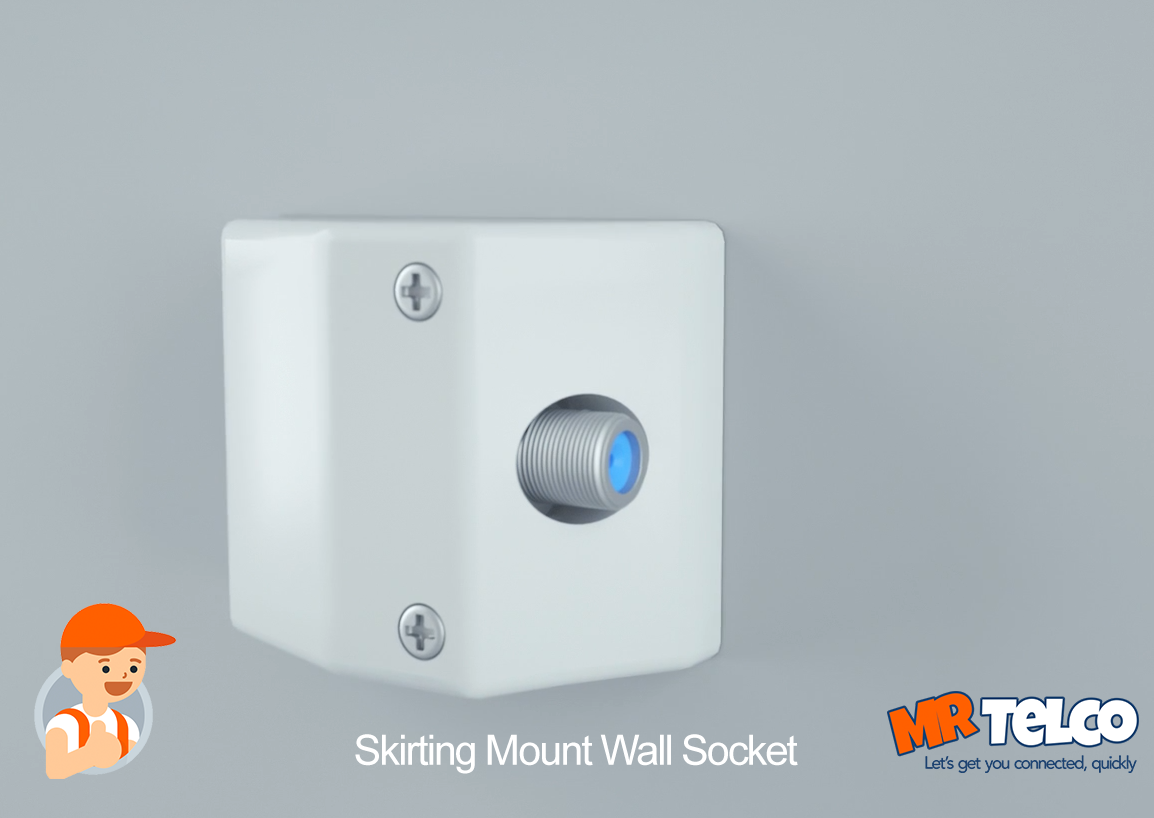 HFC NBN Skirting Mount Wall Socket