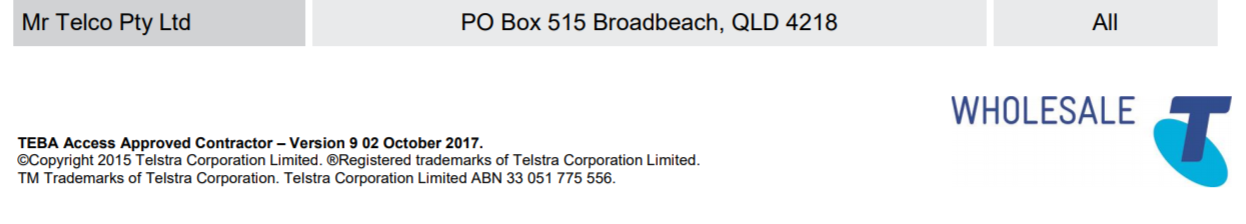 Lead in cable repair - Do I need to call Telstra or NBN?
